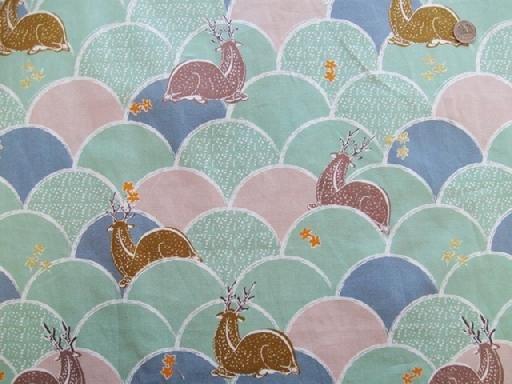 Deer Hillock - Green - Cotton Oxford - Hokusai