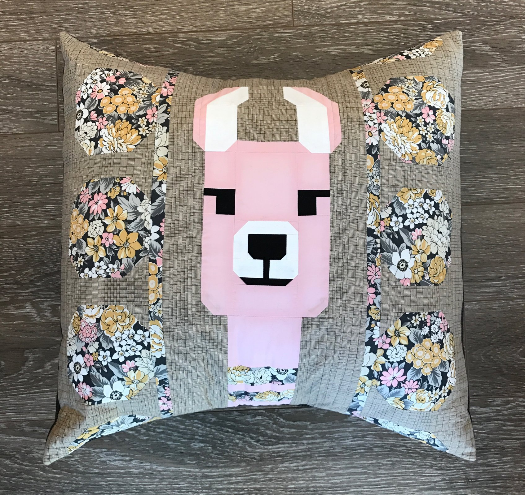Lola Llama Pink Pillow Kit - Pattern by Elizabeth Hartman