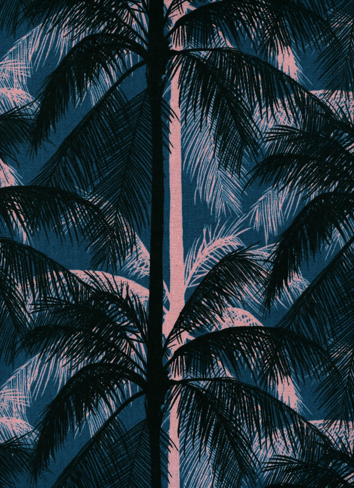 Poolside- CANVAS Palms- Blue- Melody Miller + Alexia Abegg- Cotton + Steel