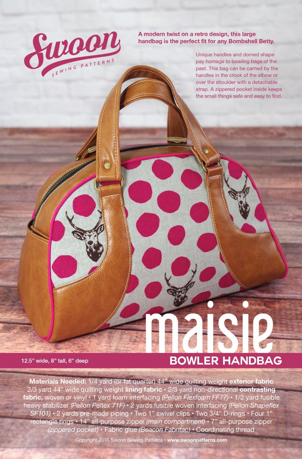 Maisie Bowler Handbag- Swoon Sewing Patterns