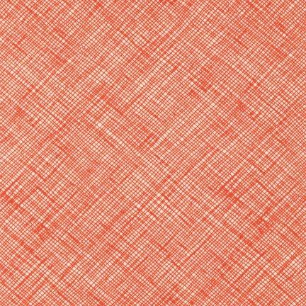 Architextures - Crosshatch - Tangerine - Carolyn Friedlander