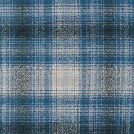 Mammoth Flannel- Blue-  Robert Kaufman