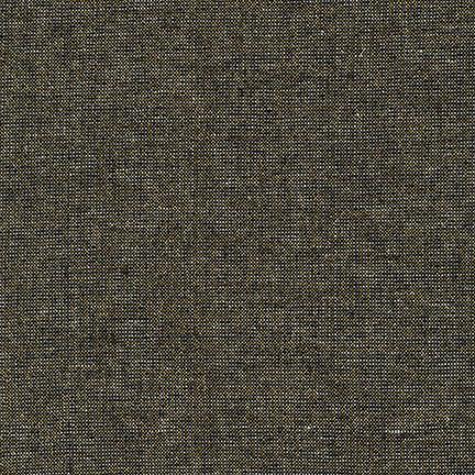 1 5/8 YARDS- Essex Yarn Dyed Linen Metallic- Robert Kaufman- Black