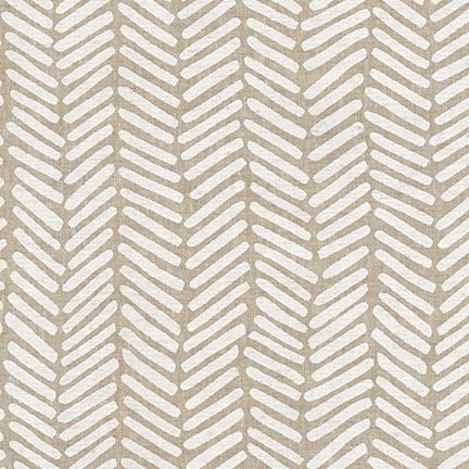 Arroyo Essex Linen- Chevron Brush- Yarn Dyed Stone- Erin Dollar- Robert Kaufman