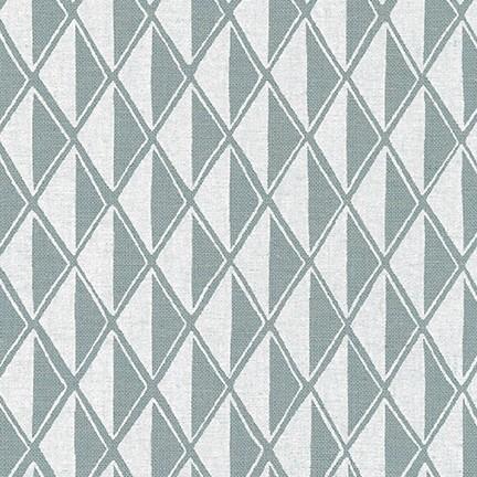 Arroyo Essex Linen- Diamonds- Yarn Dyed Dusty Blue- Erin Dollar- Robert Kaufman