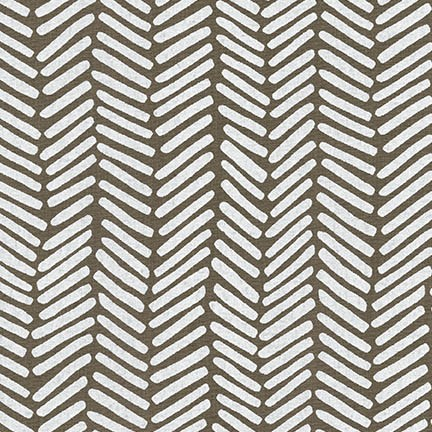Arroyo Essex Linen- Chevron Brush- Pepper- Erin Dollar- Robert Kaufman