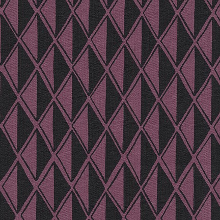 Arroyo Essex Linen- Diamonds- Plum- Erin Dollar- Robert Kaufman