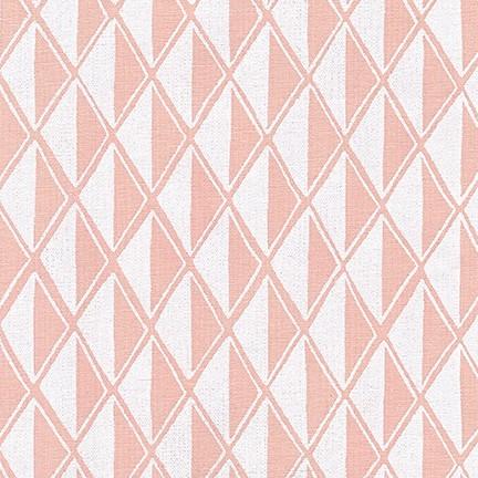 Arroyo Essex Linen- Diamonds- Peach- Erin Dollar- Robert Kaufman