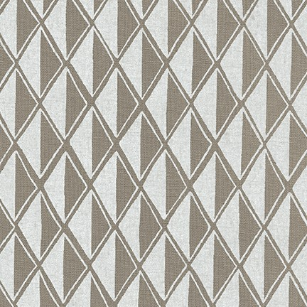 Arroyo Essex Linen- Diamonds- Pewter- Erin Dollar- Robert Kaufman