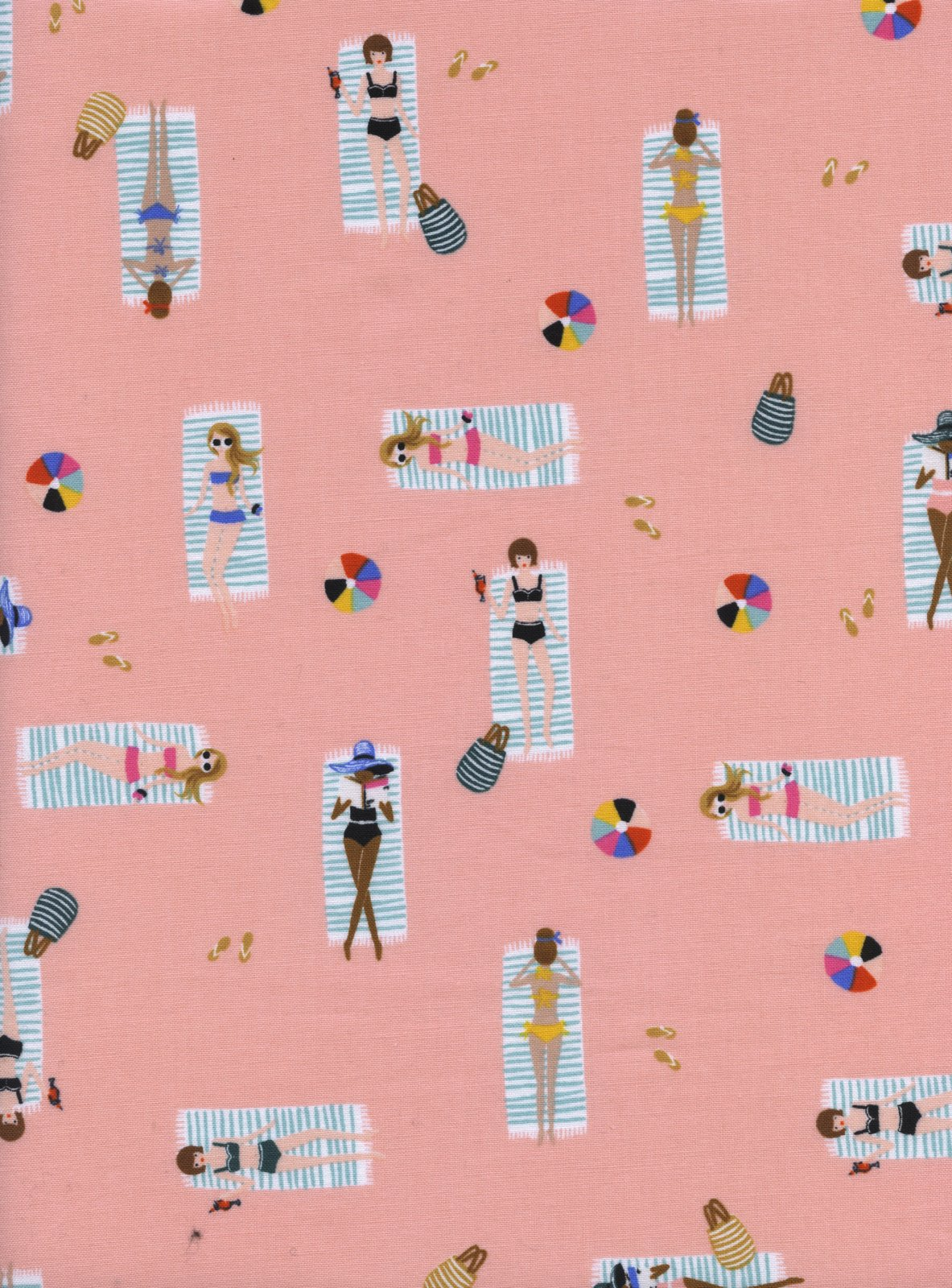 Sun Girls- Coral- Amalfi- Rifle Paper Co.- Cotton + Steel