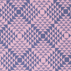 1/2 YARD- Atrium- Joel Dewberry- Pyramids- Pink
