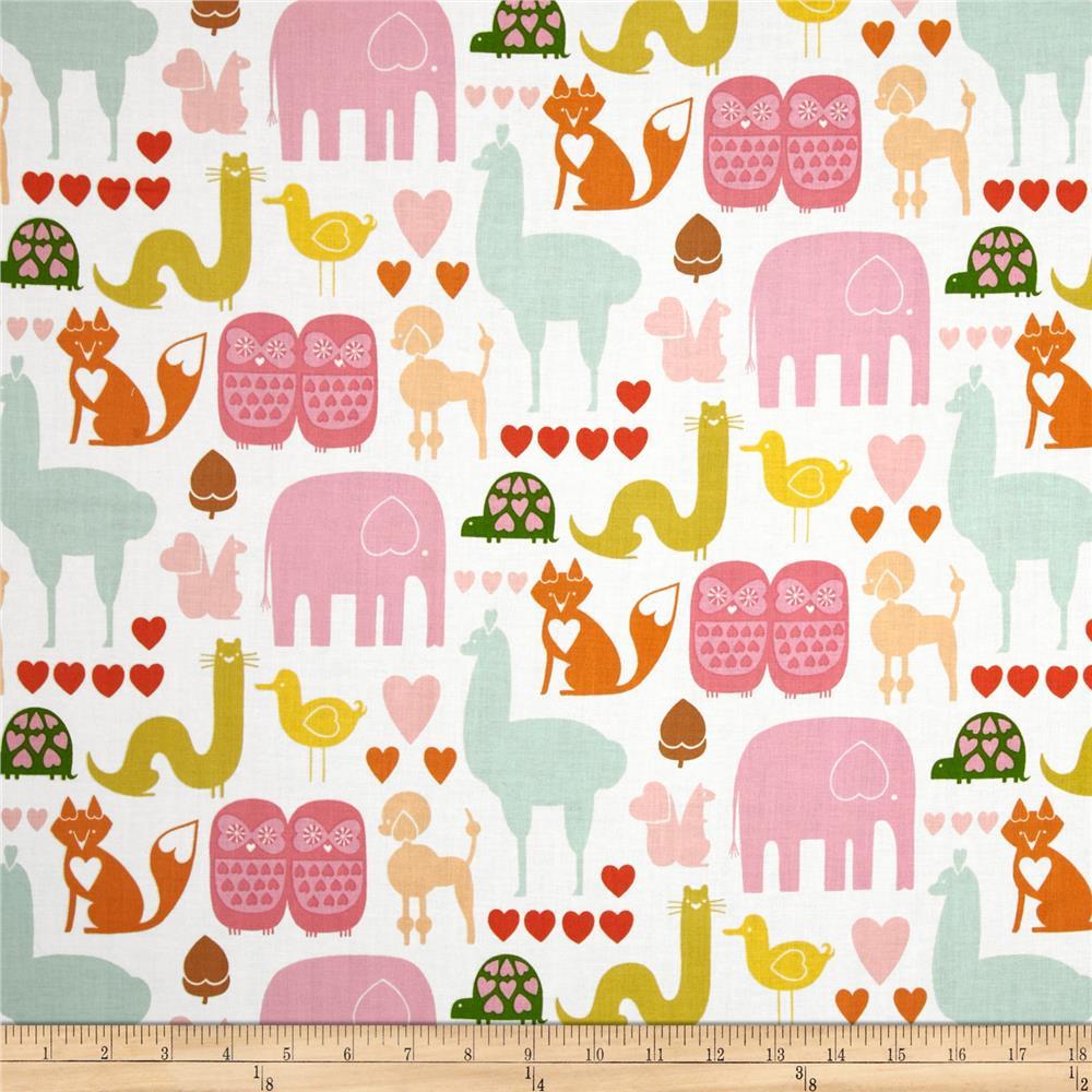 1 7/8 YARD- I *heart* Animals- Alexander Henry- Pastel