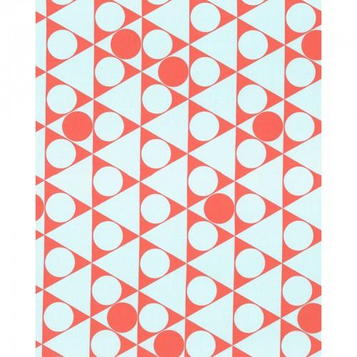 1/2 YARD- First of Infinity 2015- Kumiko Fujita- Lecien- Gumballs- Aqua/Pink