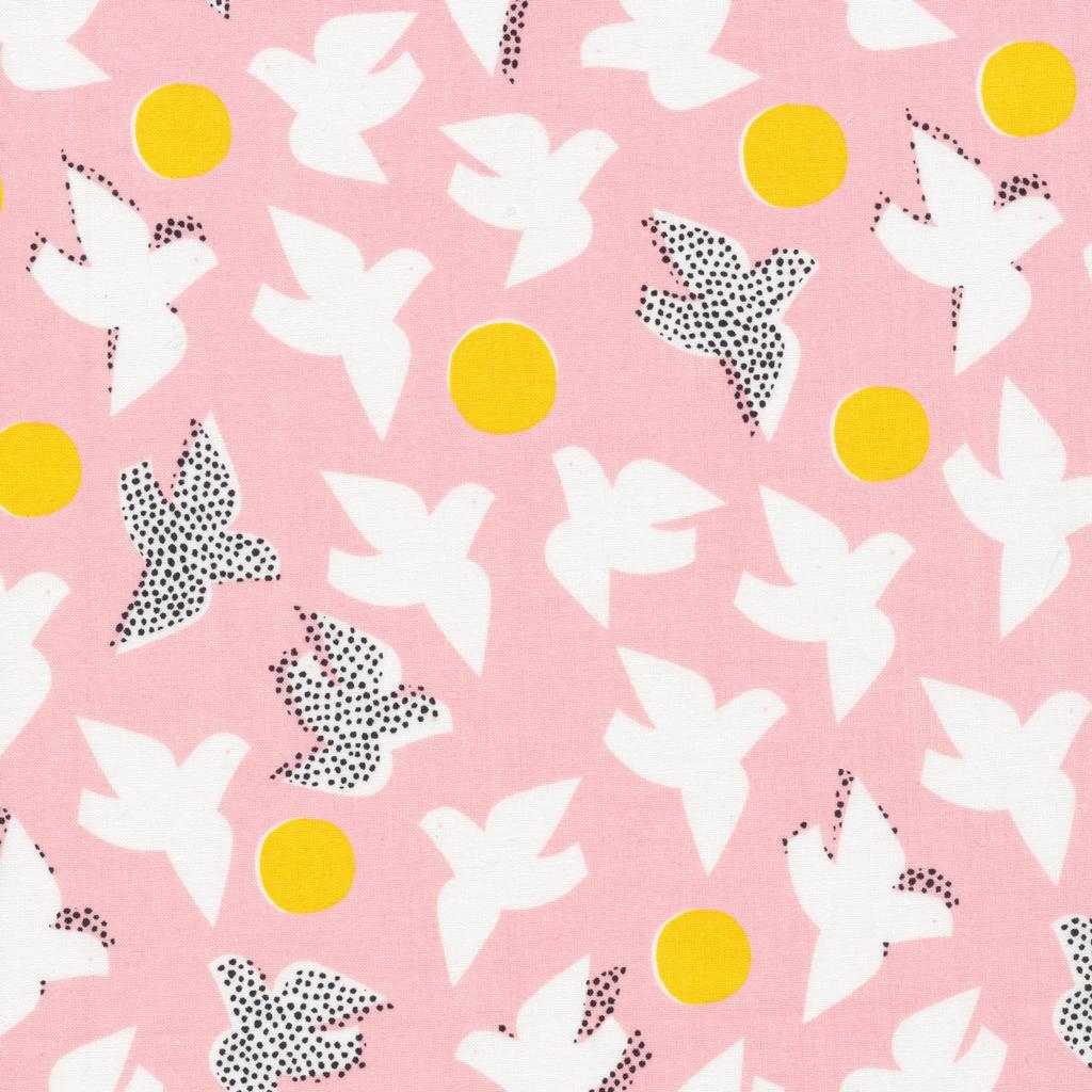 1/2 YARD- Glint- Cloud 9 Fabrics- Organic Cotton- Flock- Pink