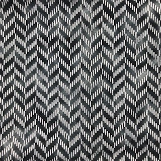 1/2 YARD- Zig and Zag- Hoffman Fabrics- Charcoal