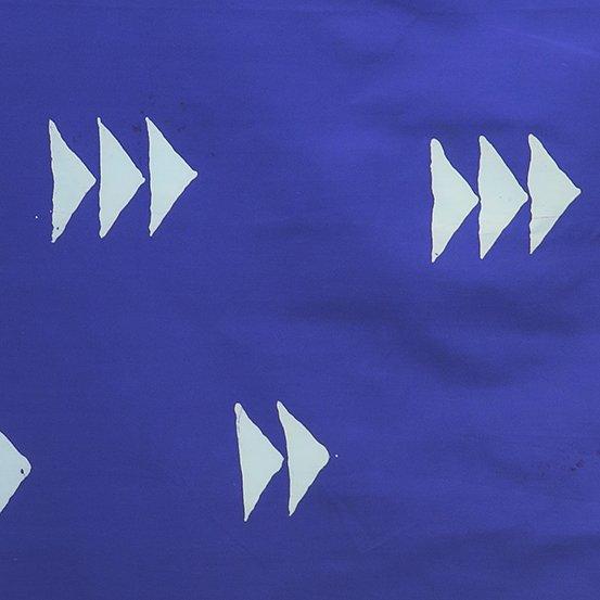 Handcrafted Indigos- Alison Glass- Flying Geese- Dark Cobalt