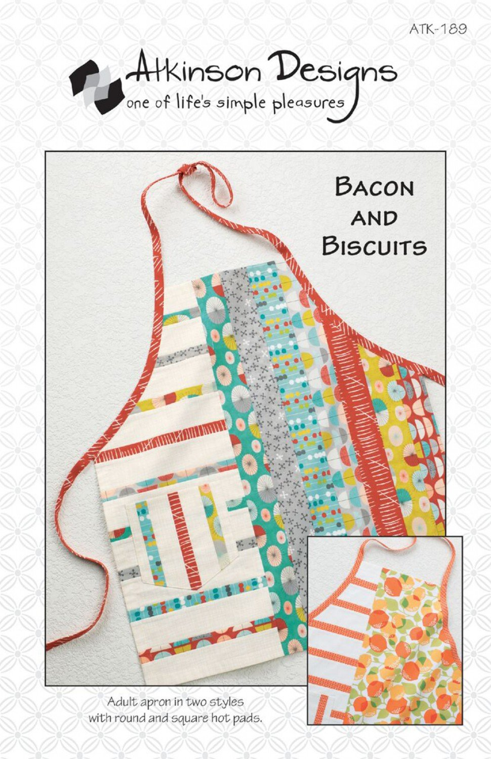 Bacon and Biscuits Apron Pattern- Atkinson Designs