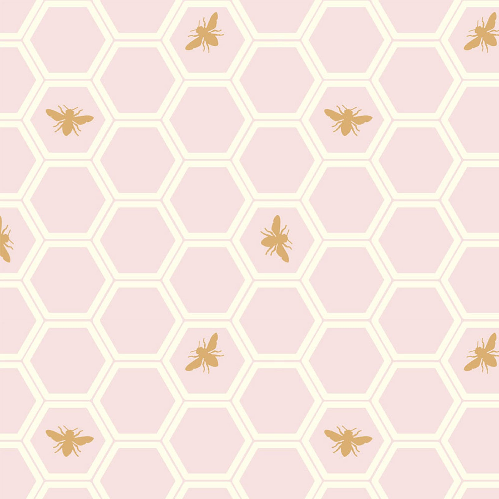 Mod Nouveau- Honeycomb- Blush- Jay-Cyn- Birch Fabrics- Organic Cotton