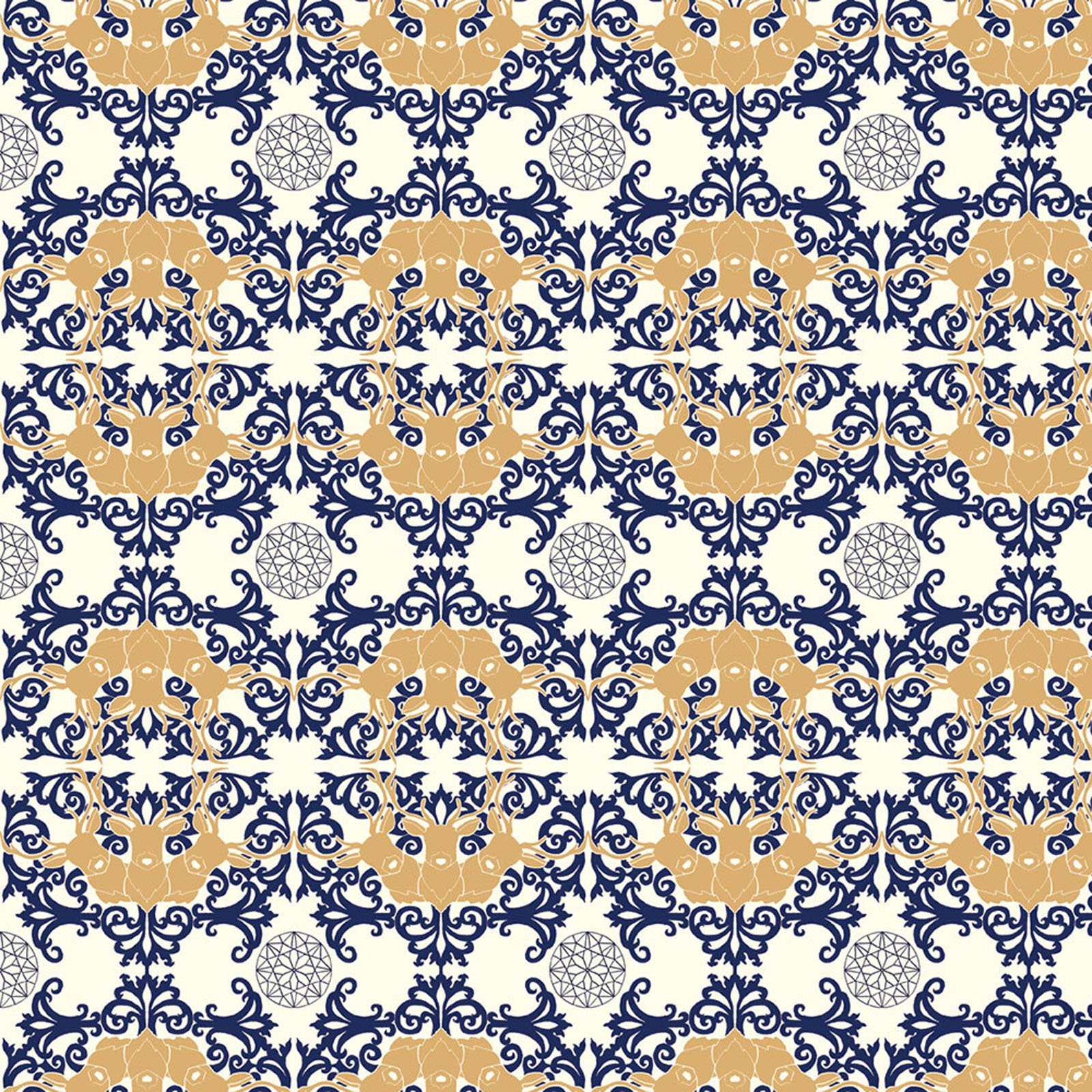 Mod Nouveau- Honed Lace- Jay-Cyn- Birch Fabrics- Organic Cotton