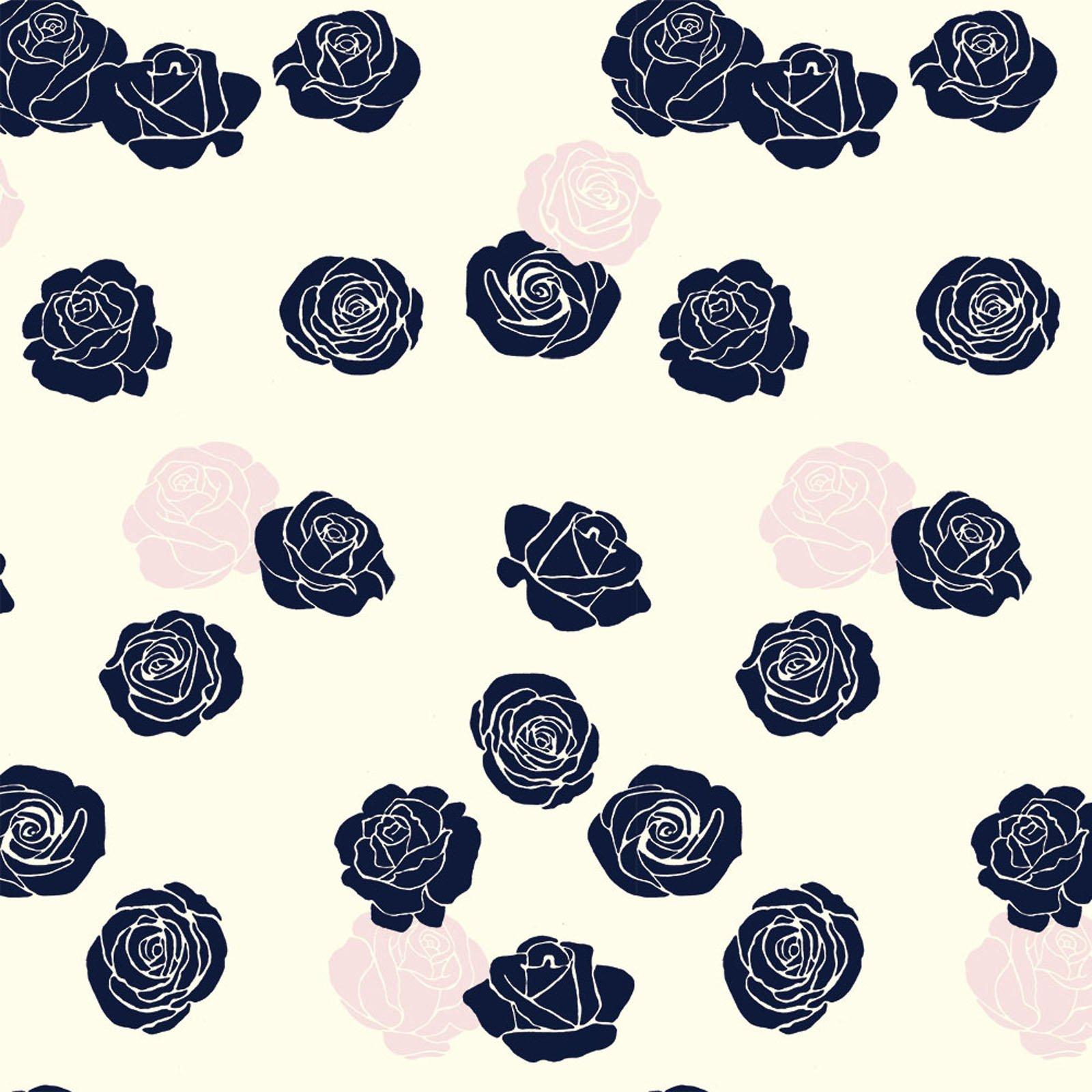 Mod Nouveau- Roses- Blush- Jay-Cyn- Birch Fabrics- Organic Cotton