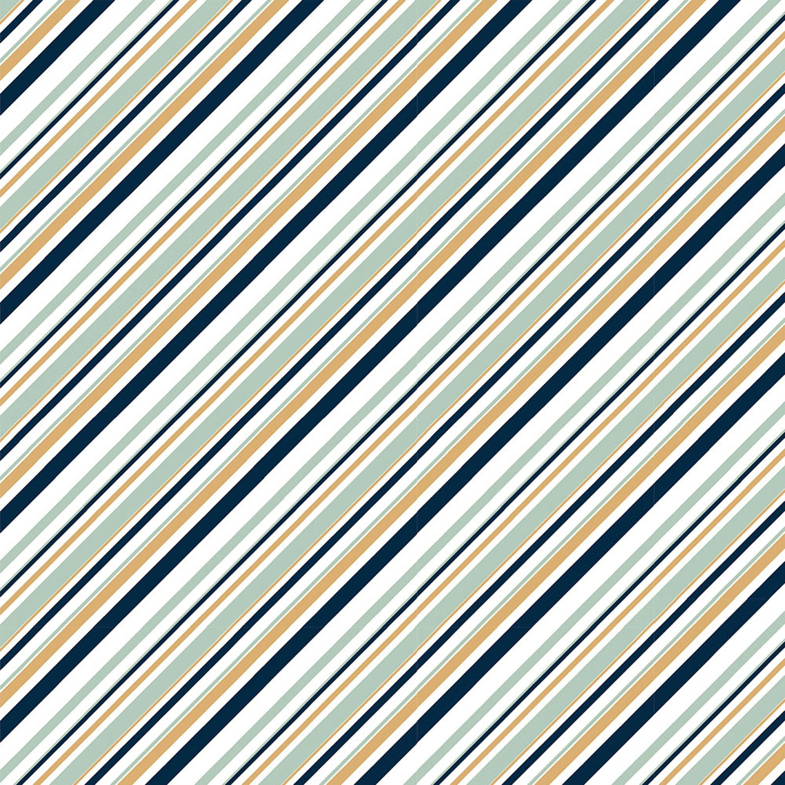 Mod Nouveau- Stripe- Mint- Jay-Cyn- Birch Fabrics- Organic Cotton