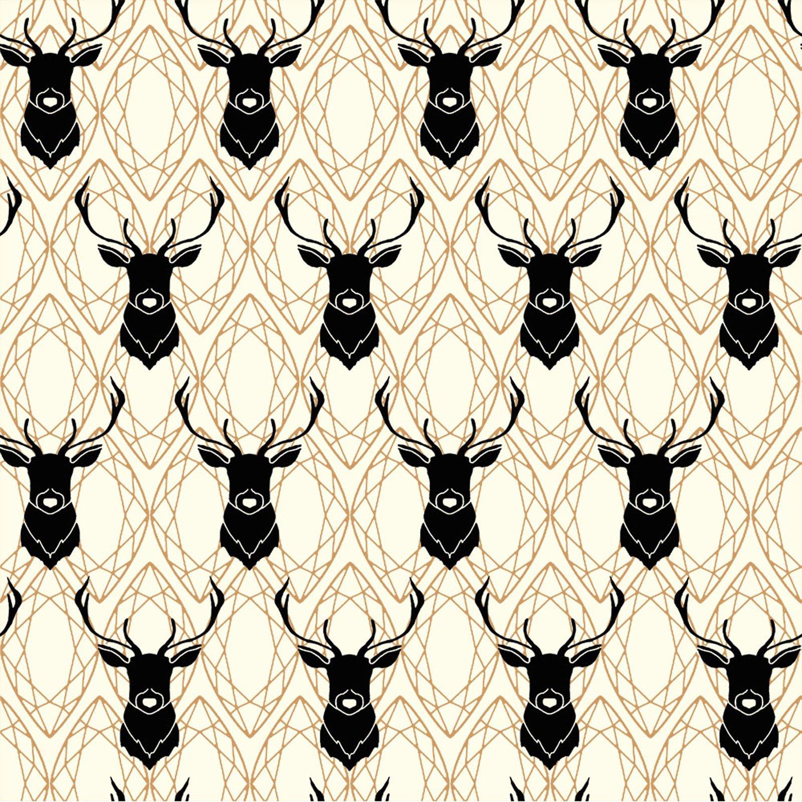 Inkwell- Elk Diamonds- Black Metallic- Jay-Cyn- Birch Fabrics
