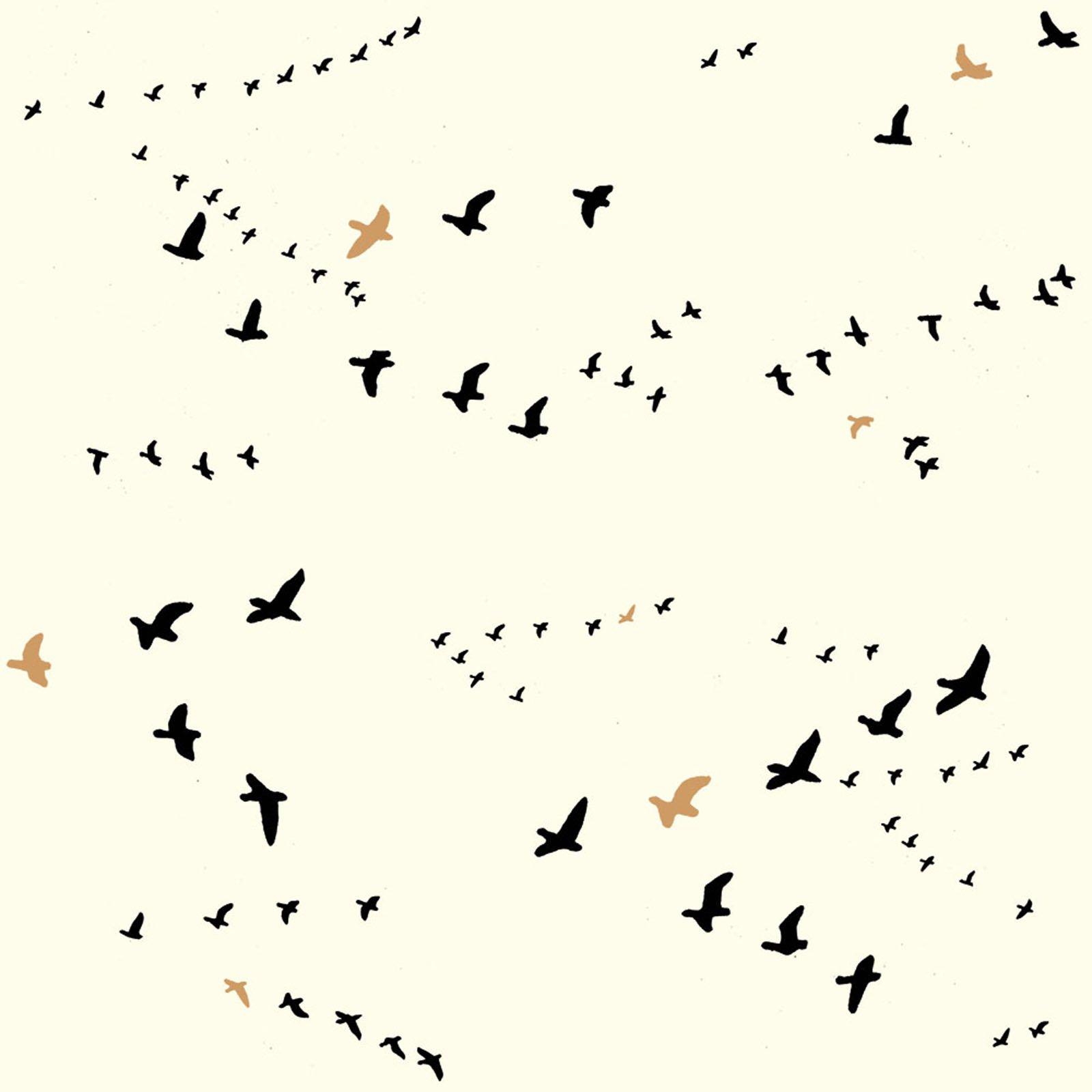 Inkwell- Flight- Black Metallic- Jay-Cyn- Birch Fabrics