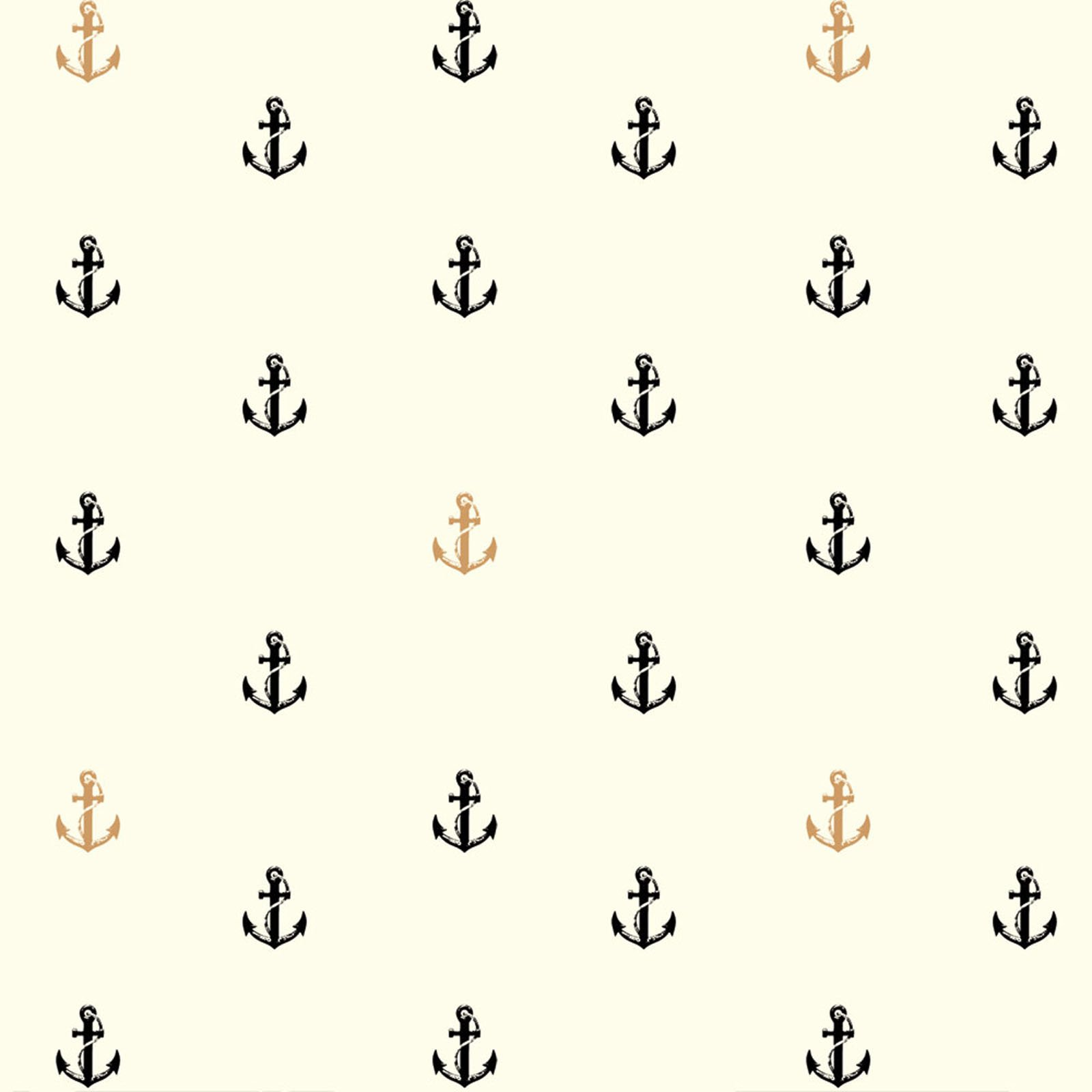 Inkwell- Little Anchor- Metallic- Jay-Cyn- Birch Fabrics