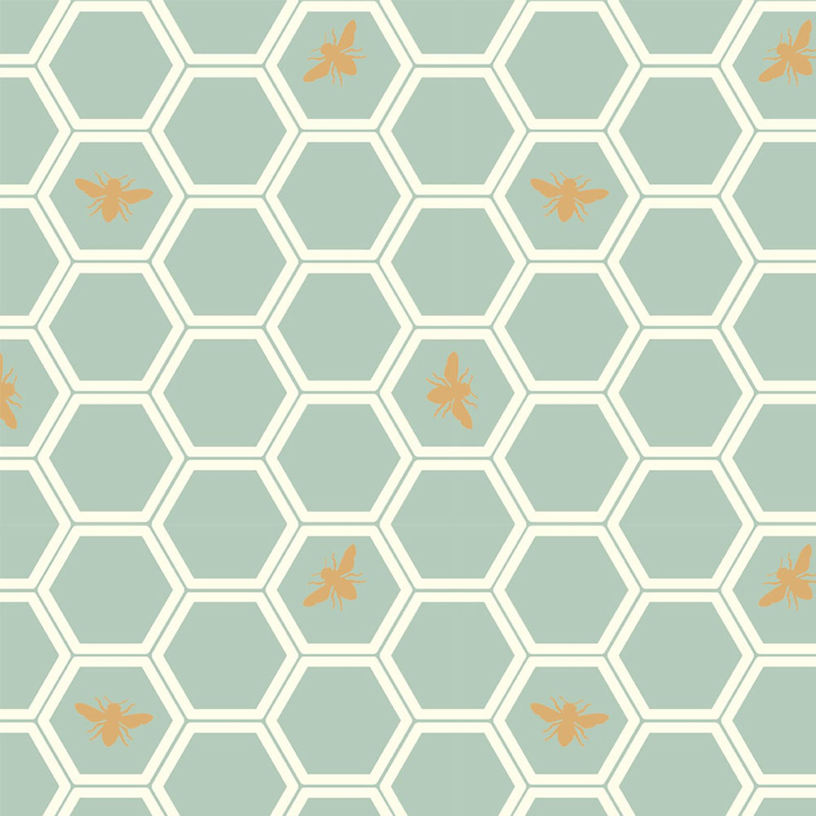 Mod Nouveau- Honeycomb- Mint- Jay-Cyn- Birch Fabrics- Organic Cotton