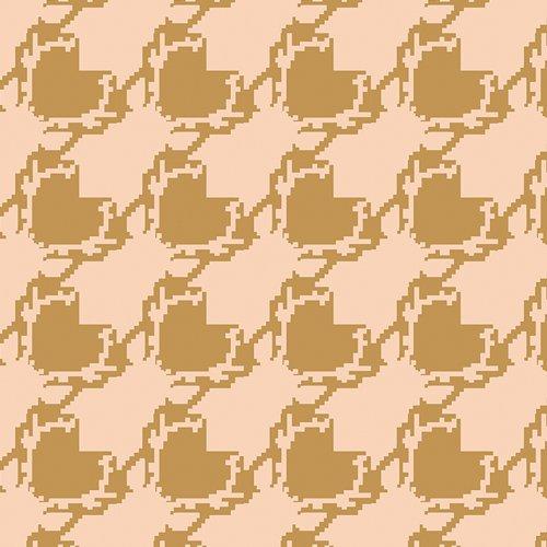 1 3/4 YARD- Blithe- Deer Houndstooth Tan - Katarina Roccella- Art Gallery Fabrics
