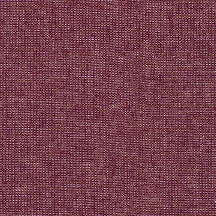 Essex Yarn Dyed Linen Metallic- Robert Kaufman- Burgandy