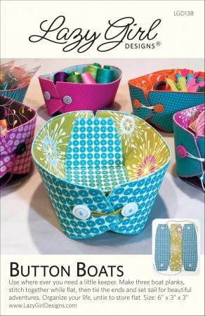 Button Boats- Lazy Girl Designs