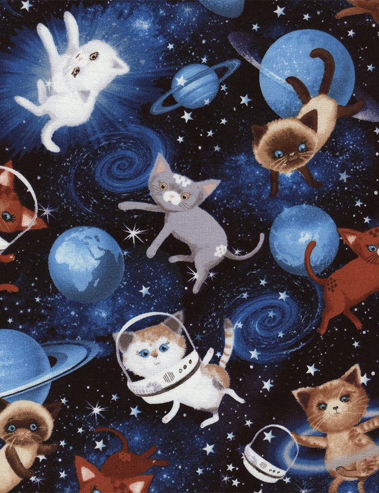 5/8 YARD- Space Cats- Timeless Treasures