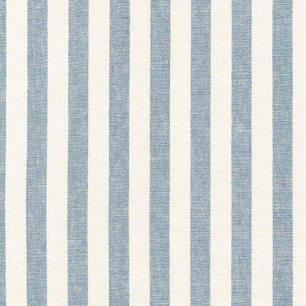 Essex Yarn Dyed Classic Wovens- Stripes- Chambray- Robert Kaufman