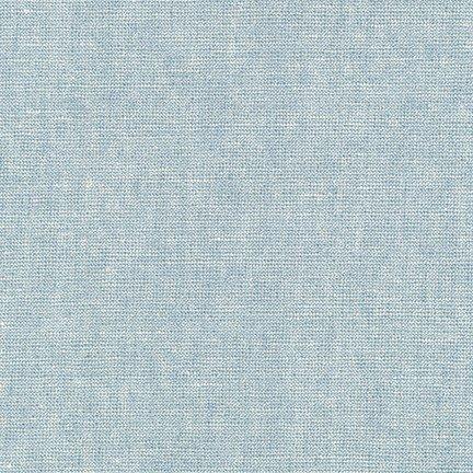 1 7/8 YARDS- Essex Yarn Dyed Linen Metallic- Robert Kaufman- Water