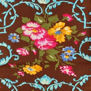 2 YARDS- West Indies- Brown- Velentina- Jennifer Paganelli- Free Spirit Fabrics
