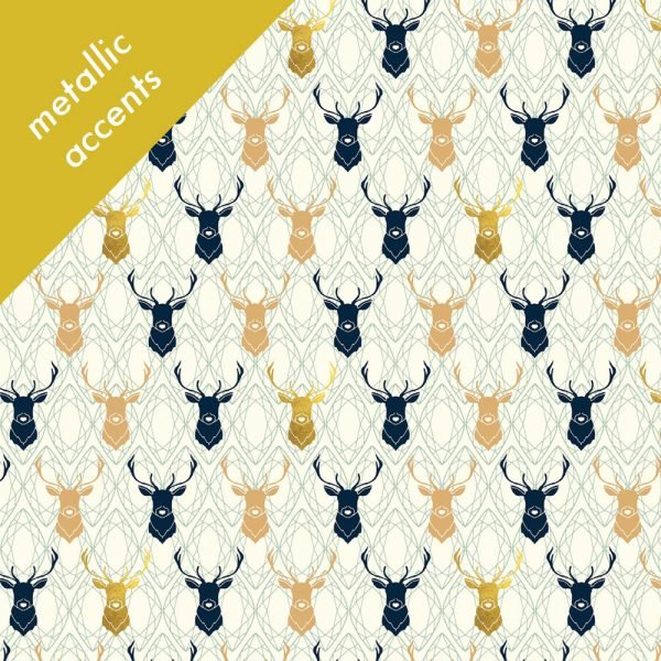 Mod Nouveau- Elk Diamond CANVAS- Jay-Cyn- Birch Fabrics- Organic Cotton