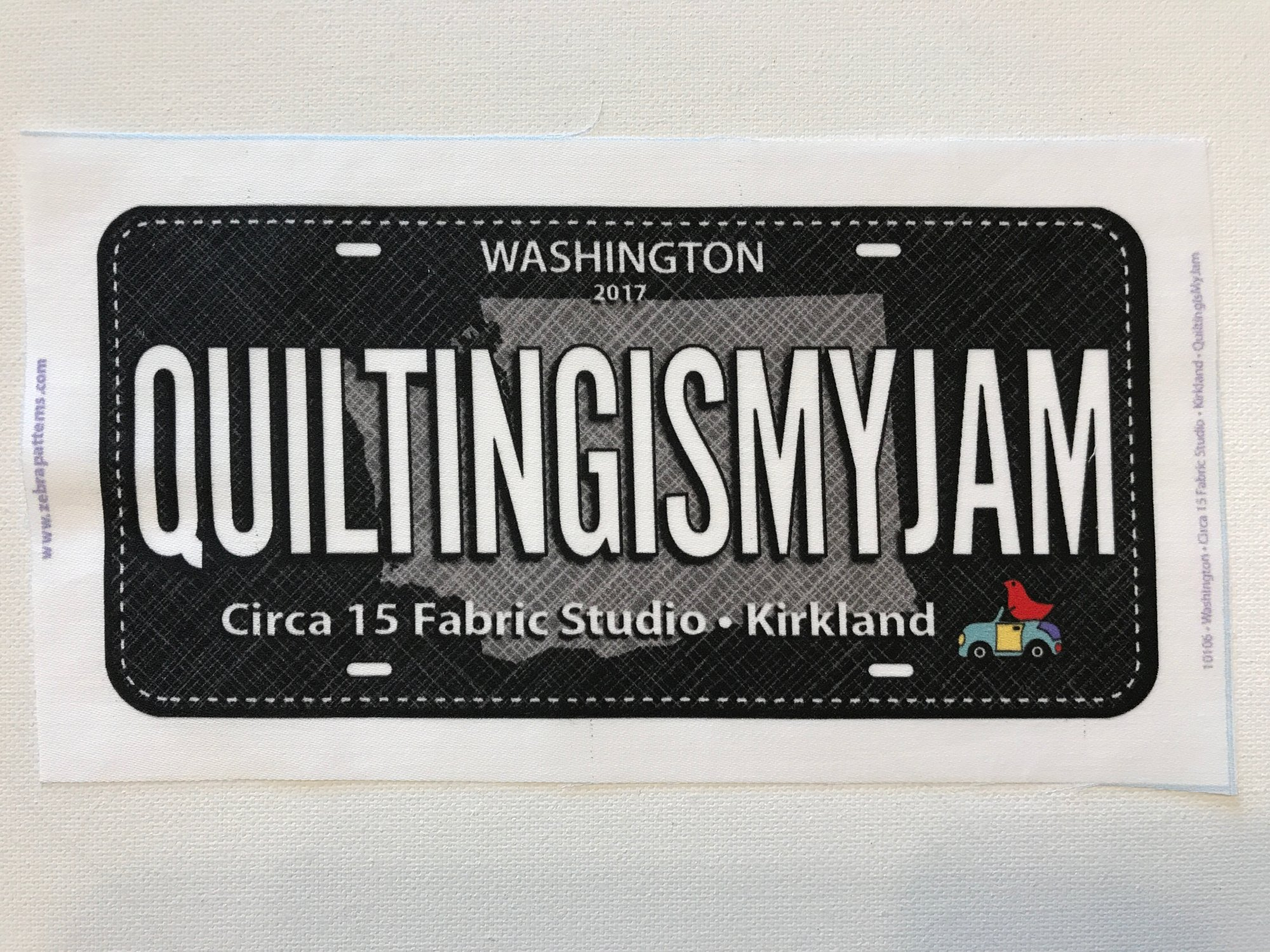 Quilting is My Jam- License Plate- Row by Row 2017