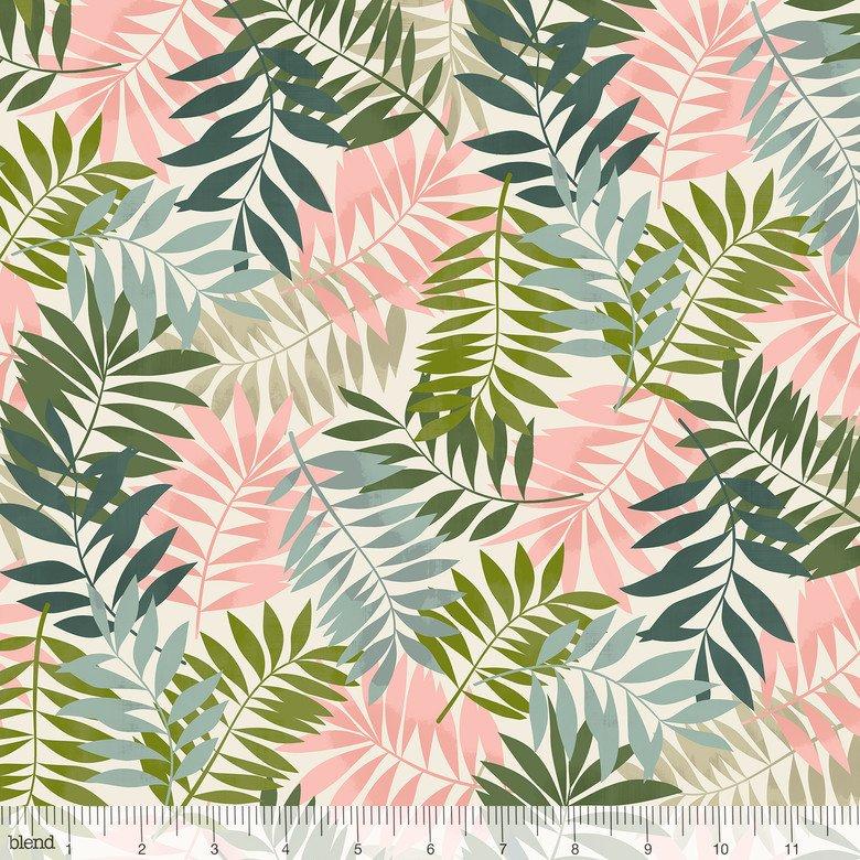 Leilani- Fern Leaves- Ivory- Maude Asbury- Blend Fabrics