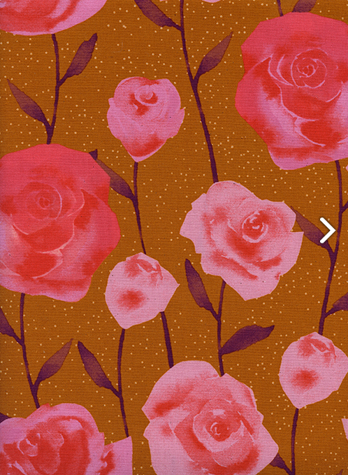 Firelight- Roses- Caramel- Sarah Watts- Cotton + Steel