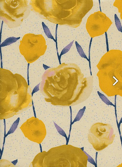 Firelight- Roses- Yellow- Sarah Watts- Cotton + Steel