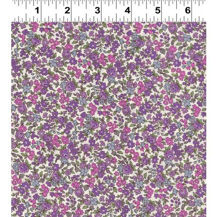 Fleuri- Small Pink/Lavender- Frou Frou- Voile