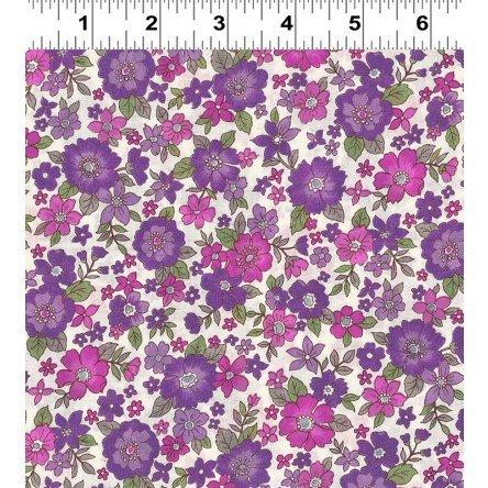 Fleuri- Large Pink/Lavender- Frou Frou- Voile