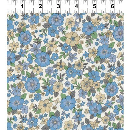 Fleuri- Large Blue/Yellow- Frou Frou- Voile