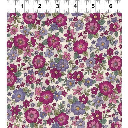 Fleuri- Large Magneta/Purple- Frou Frou- Voilee