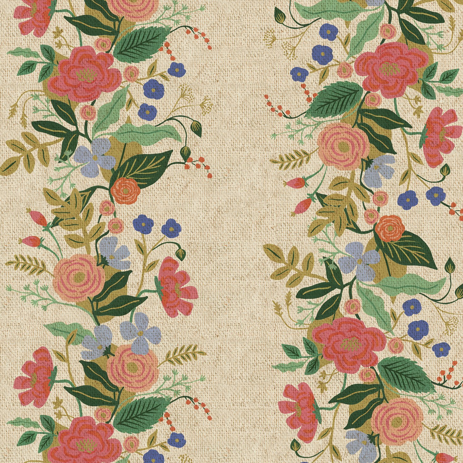 English Garden- Garden Vines- Natural Canvas- Rifle Paper Co- Cotton + Steel