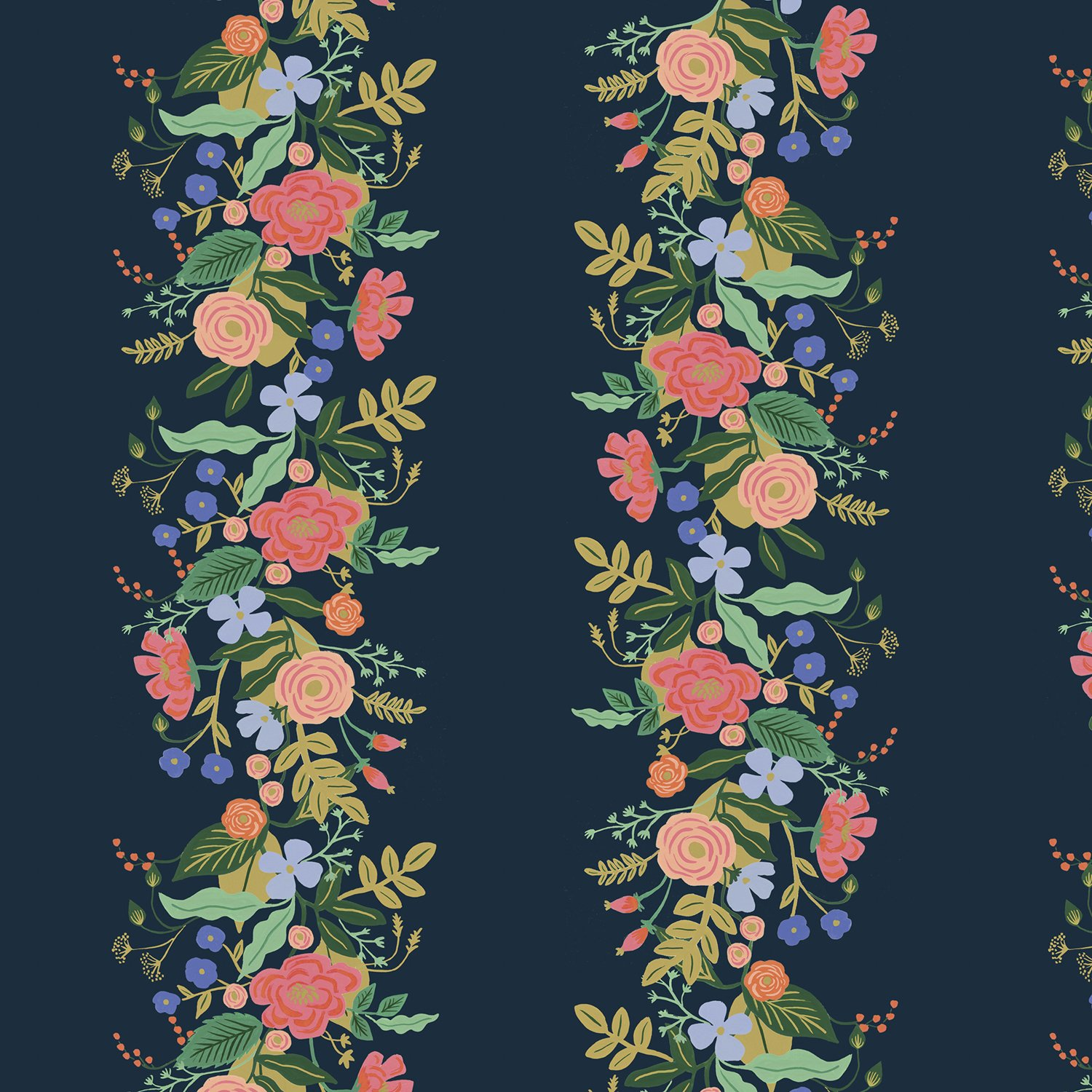 English Garden- Garden Vines- Navy- Rifle Paper Co- Cotton + Steel