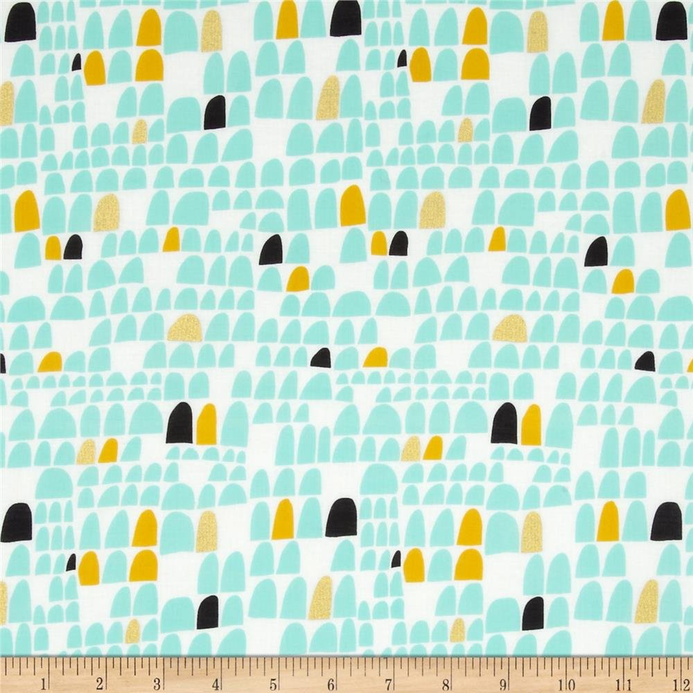 Revelry - Portal in Metallic - Lisa Congdon - Cloud 9 Organic Voile