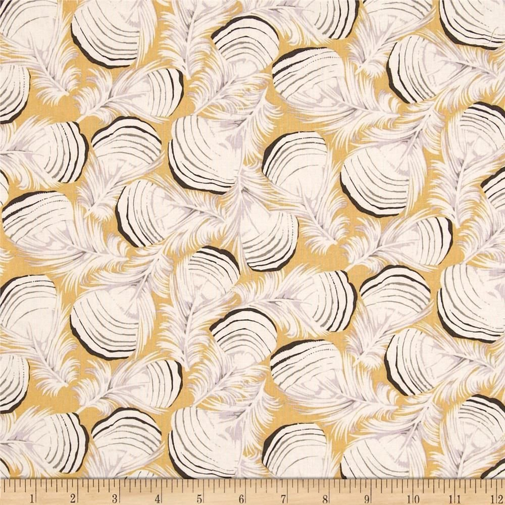 1 5/8 YARDS- Westwood - Duck Feathers - Gold - Martha Negley