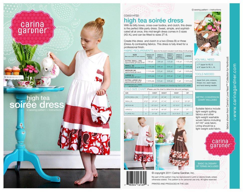 High Tea Soiree Dress Pattern- Carina Gardiner